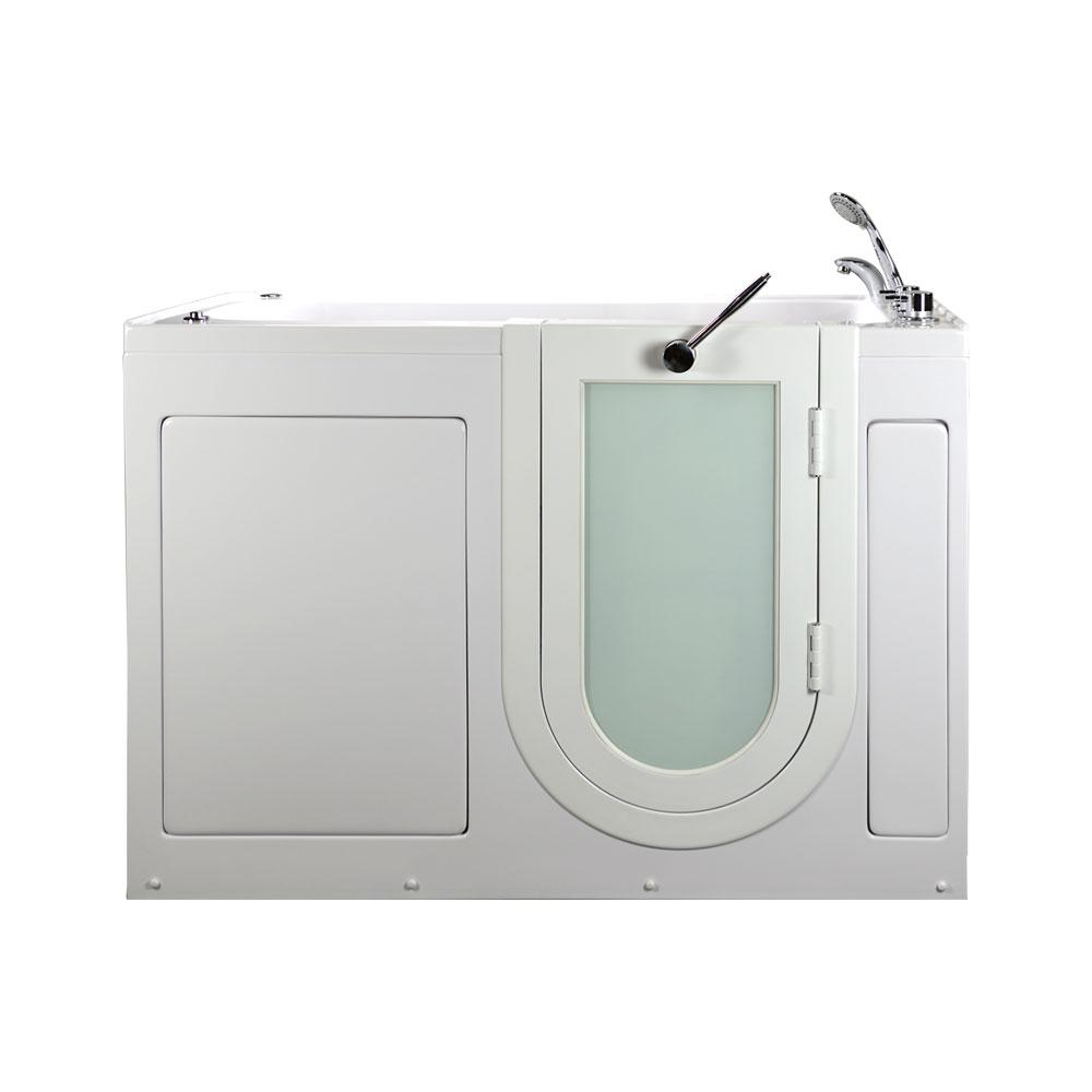 60 in. Lounger Acrylic Walk-In Whirlpool and Air Tub in White,