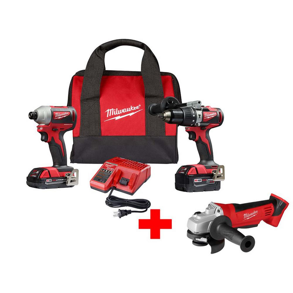 M18 18-Volt Lithium-Ion Brushless Cordless Hammer Drill and Impact Combo Kit