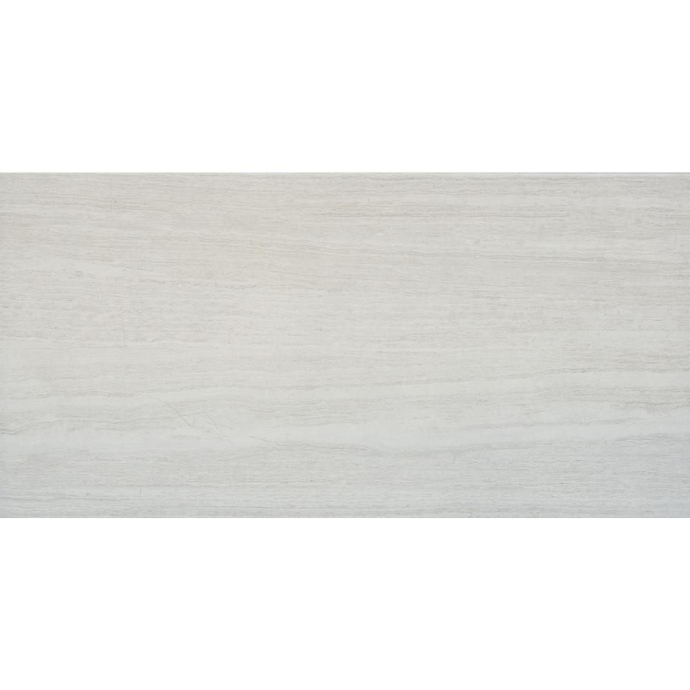 MSI Classico Blanco 12 in. x 24 in. Glazed Porcelain Floor and Wall Tile