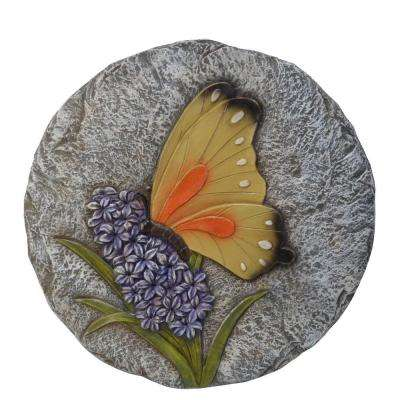 Multi-Colored Butterfly Garden Stone