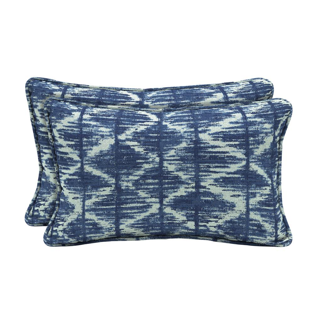 Home Decorators Collection Sunbrella Chelston Cobalt Lumbar Outdoor