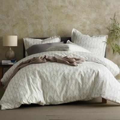 Dotted Geo Organic Cotton Percale Duvet Cover