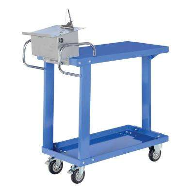 18 in. x 36 in. Easy Access Steel Stock Truck with Table
