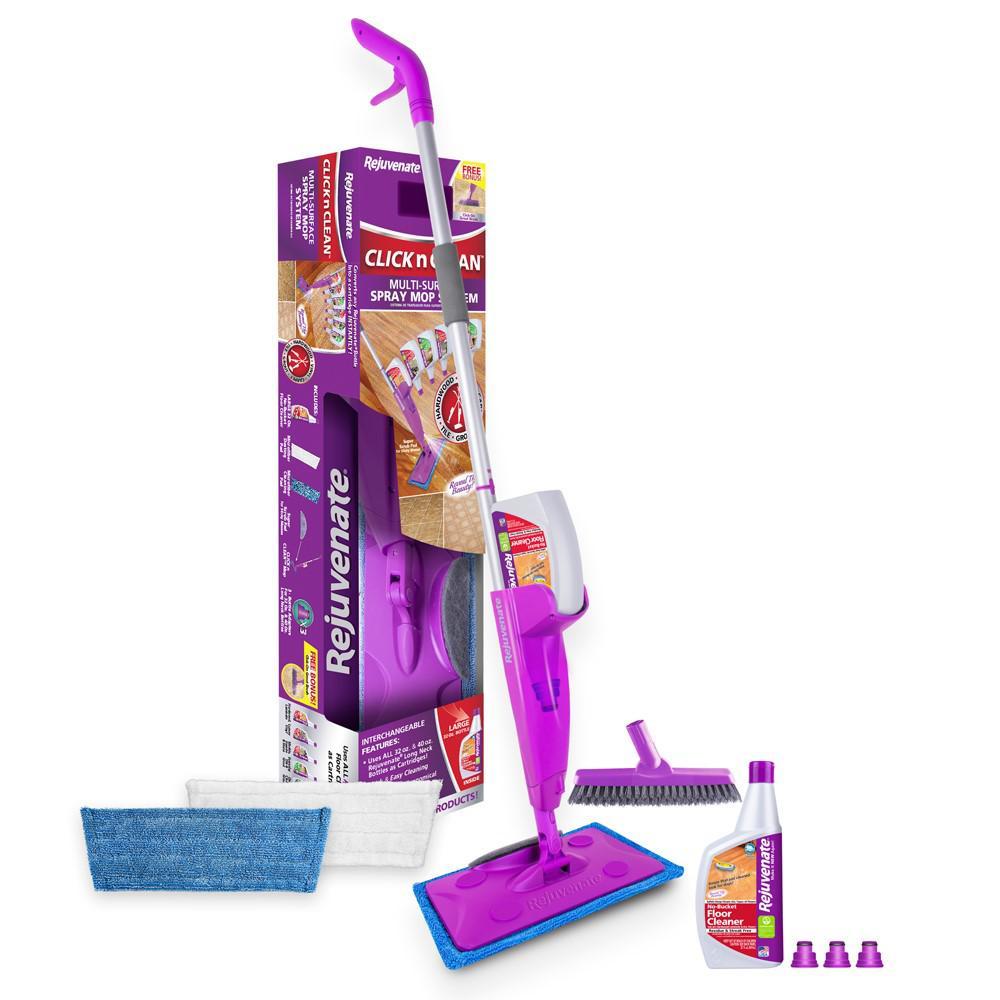 Rejuvenate Click 'N Clean Floor Care Wet Mop Pad Kit