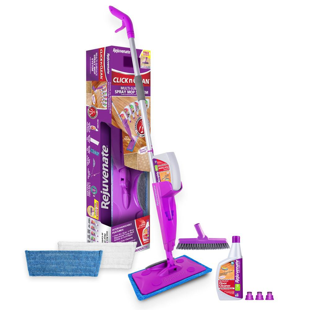 Rejuvenate Click 'N Clean Multi-Surface Microfiber Spray Mop