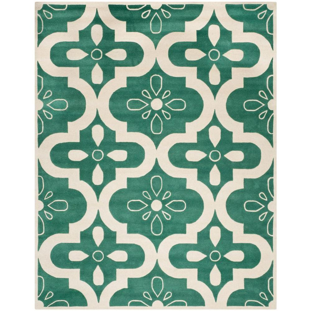 Safavieh Chatham Teal/Ivory 6 ft. x 9 ft. Area Rug