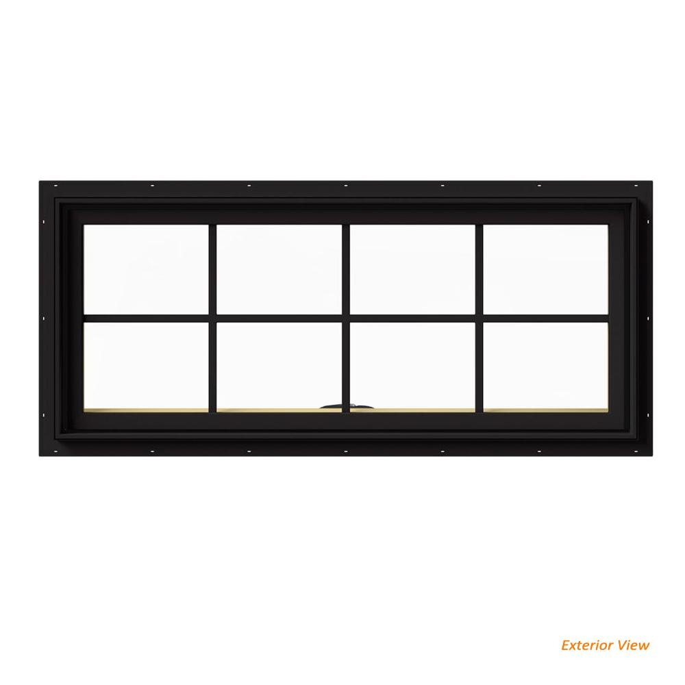 48 in. x 20 in. W-2500 Series Black Painted Clad Wood