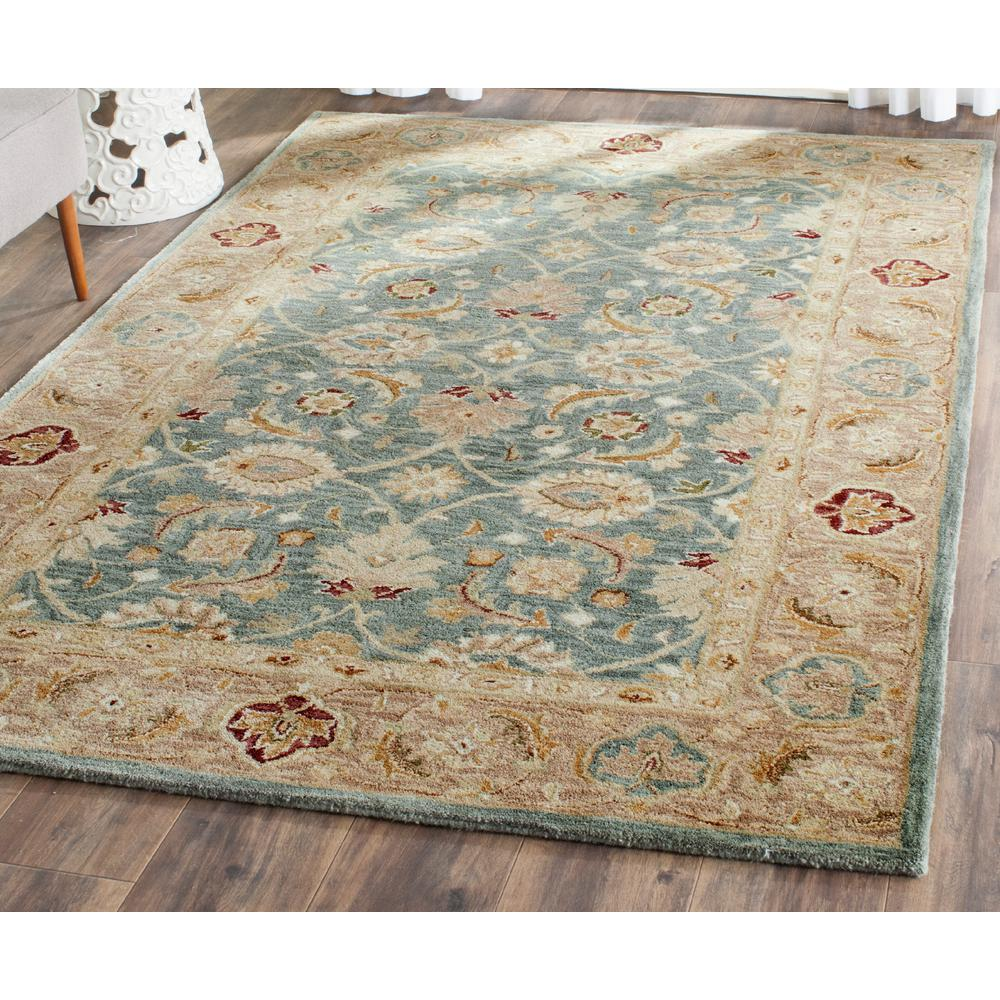 Teal Area Rug Turquoise Rug Soft Rug Bathroom By: Safavieh Antiquity Teal Blue/Taupe 5 Ft. X 8 Ft. Area Rug