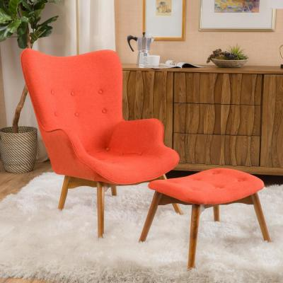 Hariata Muted Orange Contour Chair Set