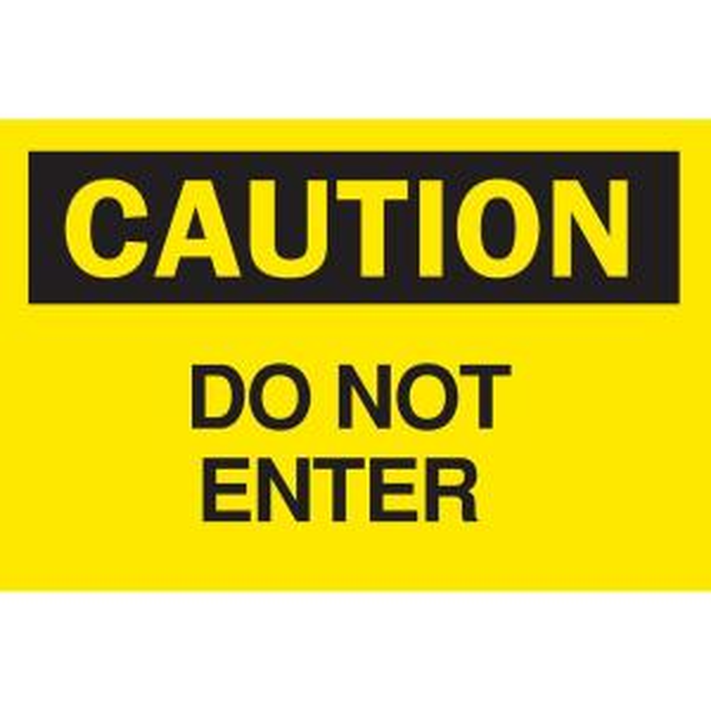 Click here to buy Brady 10 inch x 14 inch Plastic Caution Do Not Enter OSHA Safety Sign by Brady.