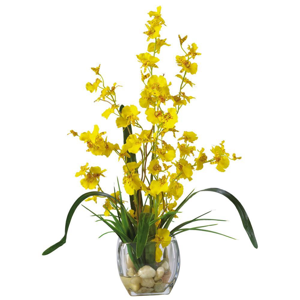 19 in. Dancing Lady Orchid Liquid Illusion Silk Flower Arrangement in