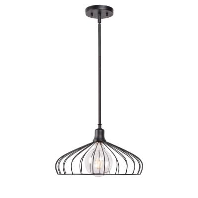 Cagney 1-Light Black Pendant