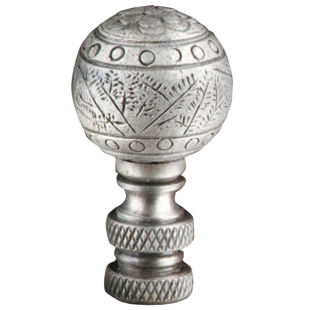 Mario Industries Antique Silver Etched Lamp Finial-DISCONTINUED