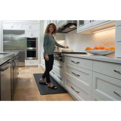 Nantucket Series Black 26 in. X 72 in. Comfort Mat
