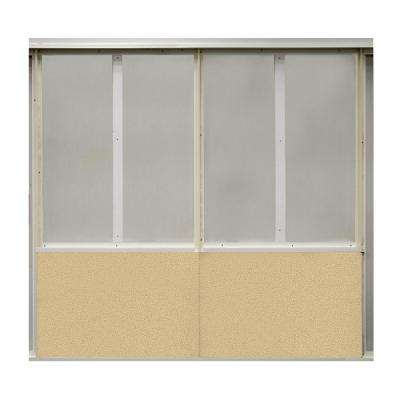 20 sq. ft. Vanilla Fabric Covered Bottom Kit Wall Panel