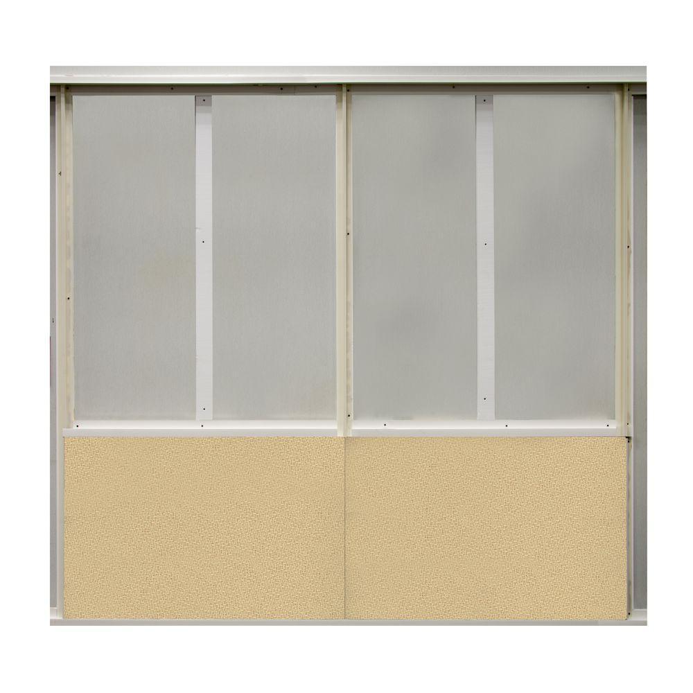 20 sq. ft. Vanilla Fabric Covered Bottom Kit Wall Panel