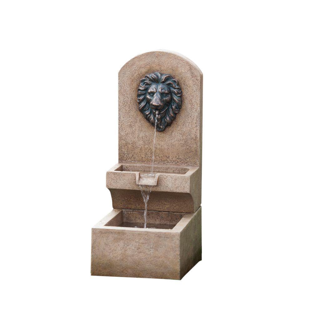 Jeco Lion Head Wall Tier Fountain