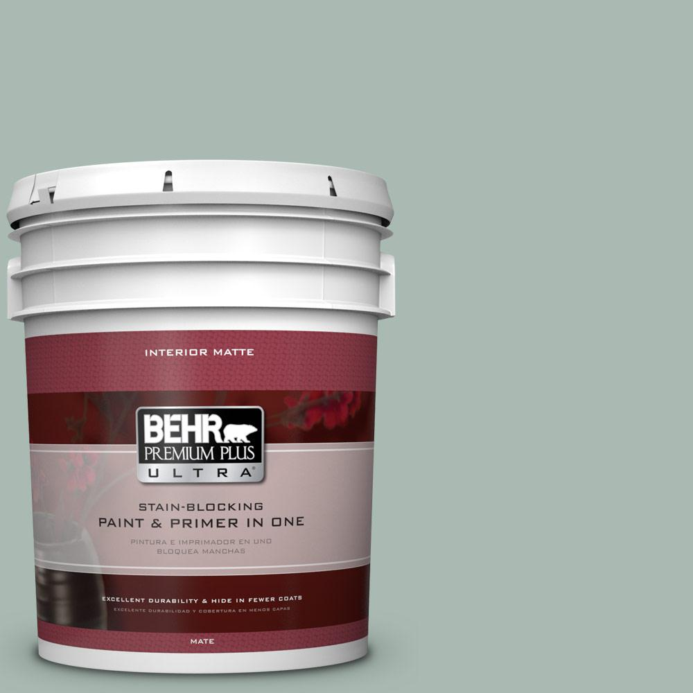 5 gal. #BXC-85 Quiet Teal Matte Interior Paint