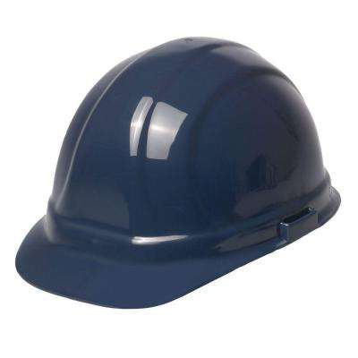 Omega II 6 Point Nylon Suspension Slide-Lock Cap Hard Hat in Dark Blue