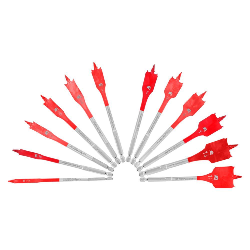 SPEEDemon High Speed Steel Spade Bit Set (12-Piece)
