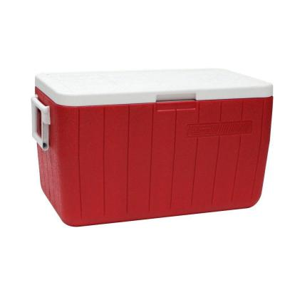 Coleman 48-Quart Performance 3-Day Heavy-Duty Cooler, Red
