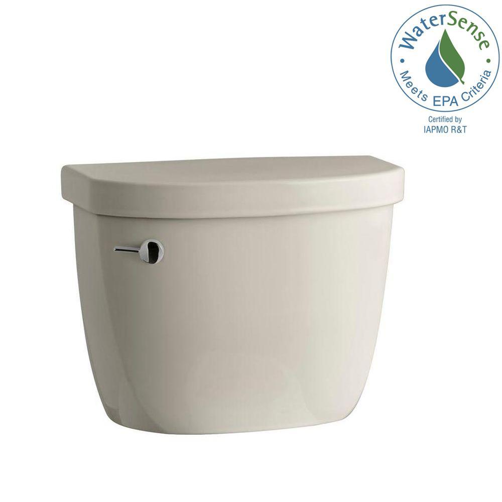 Cimarron 1.28 GPF Single Flush Toilet Tank Only in Sandbar