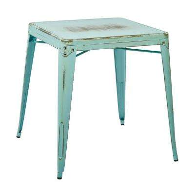 Bristow Antique Sky Blue End Side Table