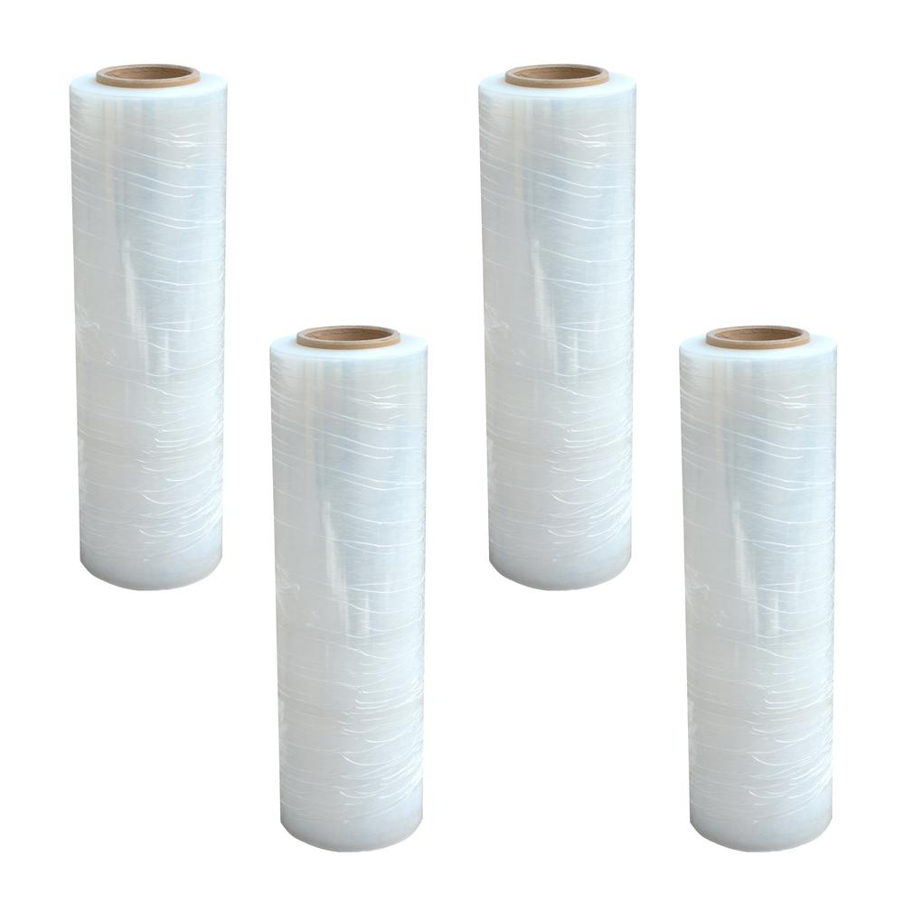 80-Gauge 18 in. x 1500 ft. Stretch Wrap Roll (4-Pack)