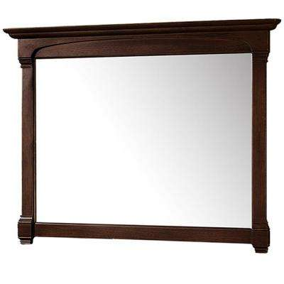 Andover 50 in. W x 41.25 in. H Framed Wall Mirror in Dark Cherry