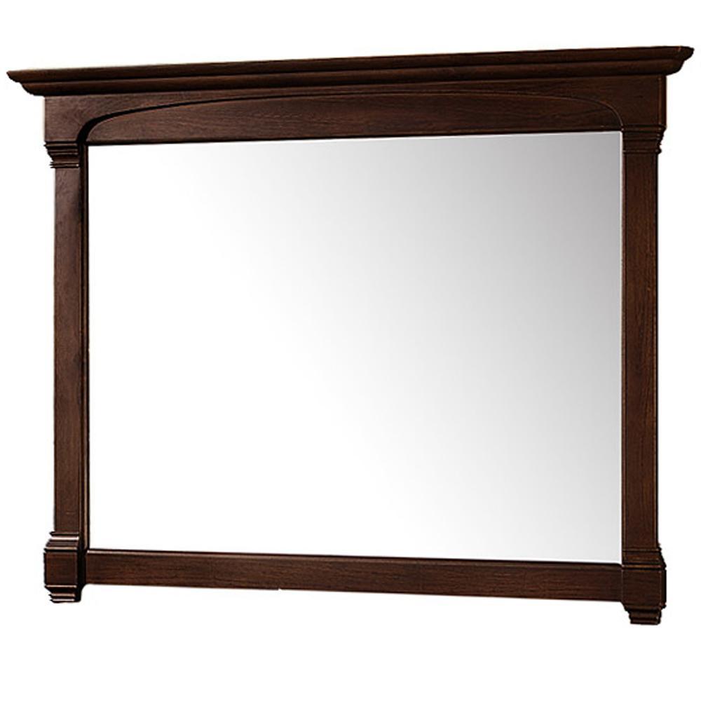 Andover 50 in. W x 41 in. H Framed Rectangular Bathroom Vanity Mirror in Dark Cherry