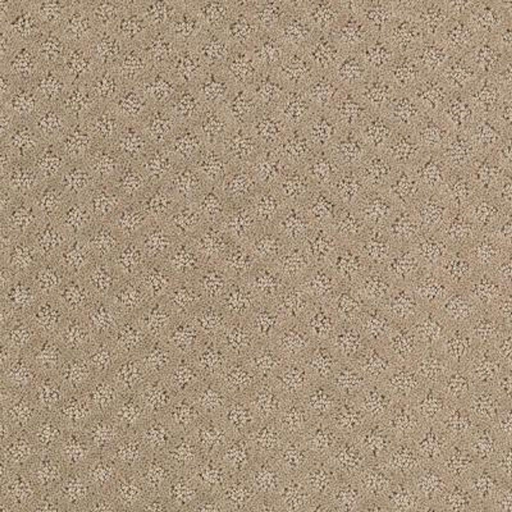 LIFEPROOF Carpet Sample - Lilypad - Color Hearth Beige Pattern 8 in. x 8 in.