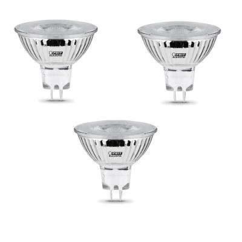 50-Watt Equivalent MR16 GU5.3 Bi-Pin Dimmable CEC LED 90+ CRI Flood Light Bulb Daylight (3-Pack)