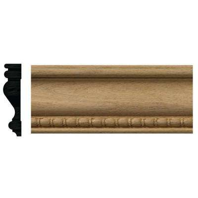885-7 3/4 in. x 3 in. x 84 in. Red Oak Bead and Reel Casing Moulding