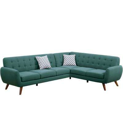 2-Piece Laguna Polyfiber (Linen-Like Fabric) Contemporary Sectional Sofa