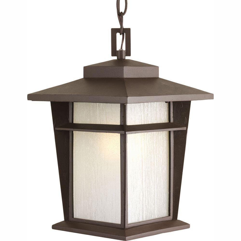 Fluorescent Outdoor Lighting: Progress Lighting Loyal Collection 1-Light Antique Bronze