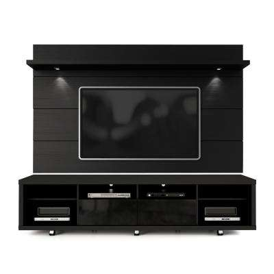 Cabrini Black Gloss and Black Matte Entertainment Center