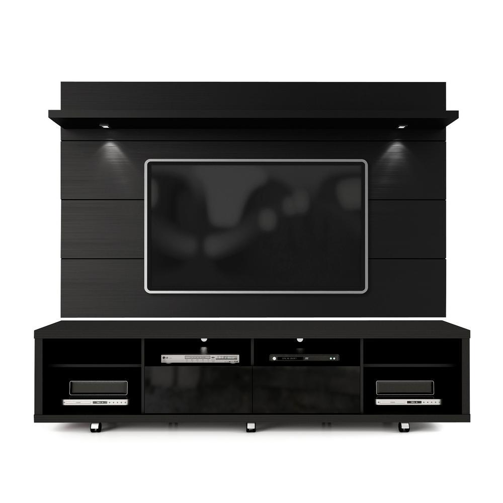 84d4c99b715f6f Cabrini Black Gloss and Black Matte Entertainment Center. by Manhattan  Comfort