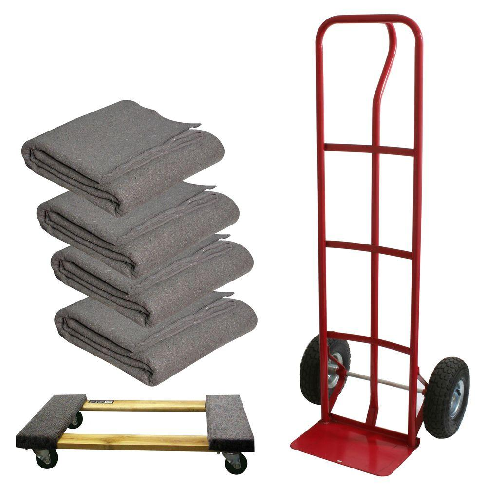 Buffalo Tools 600 lb. Capacity Hand Truck with 4 Moving Blankets-DISCONTINUED