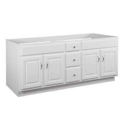 Concord RTA 72 in. W x 21 in. D Bath Vanity Cabinet Only in White Gloss