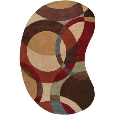 Seletar Brown 6 ft. x 9 ft. Kidney Area Rug