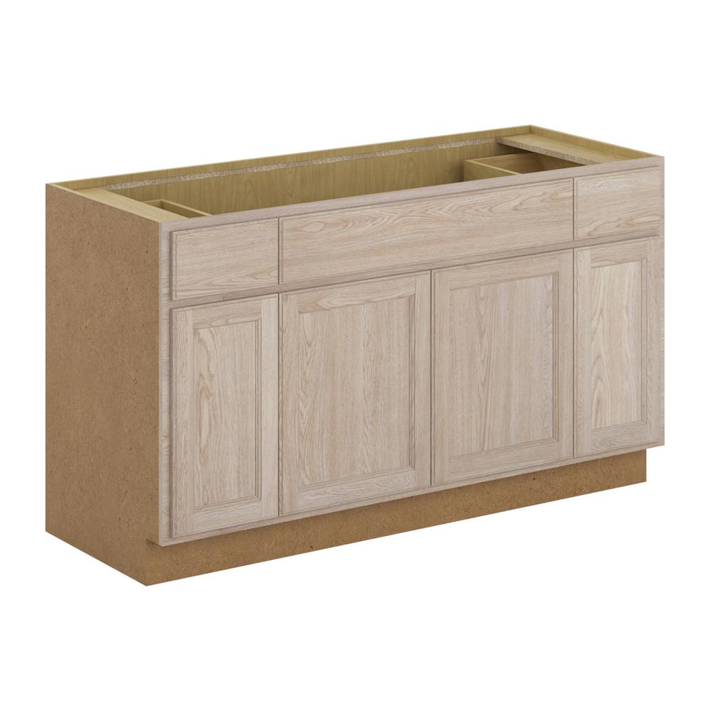 Hampton Bay Stratford Assembled 60x34 5x24 In Sink Base Cabinet