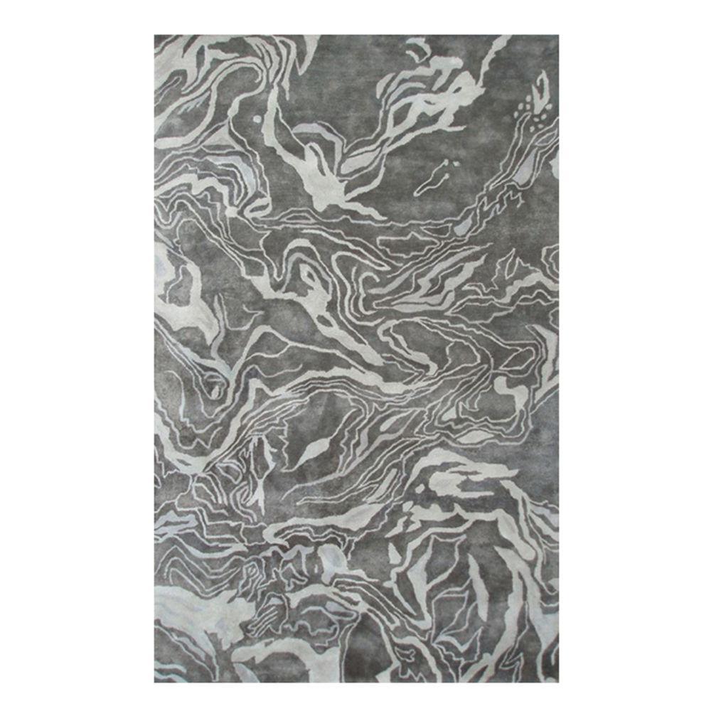 Marble Gray 5 ft. x 8 ft. Indoor Area Rug