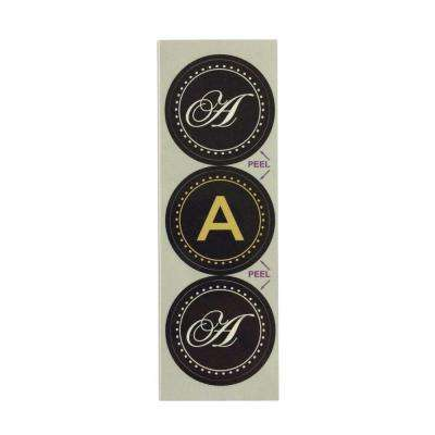 A Monogram Decorative Bathroom Sink Stopper Laminates (Set of 3)