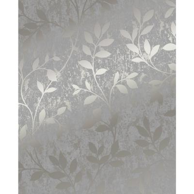 Milan Trail Taupe and Gold Removable Wallpaper