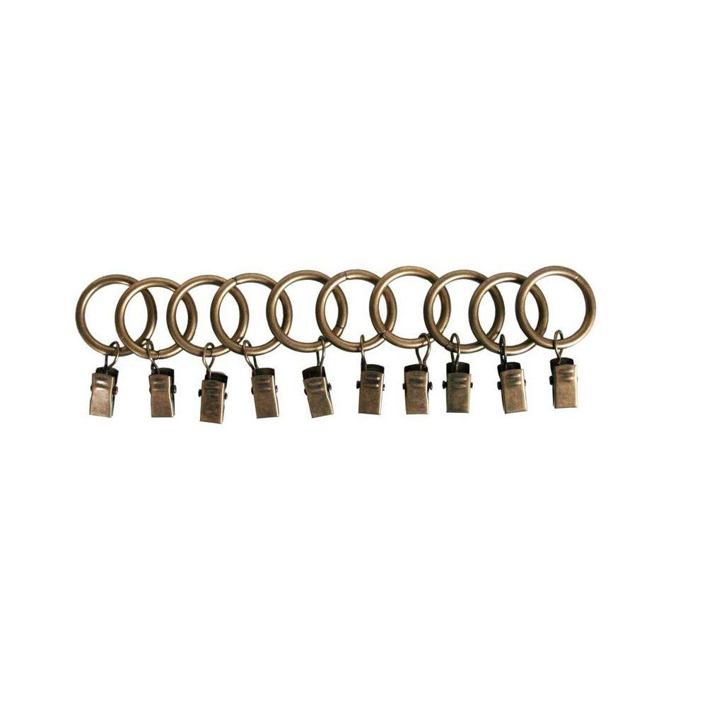 1 in. Clip Rings in Antique (10-Pack)