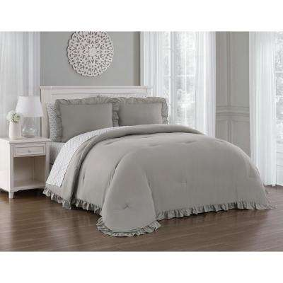 Melody 7-Piece Taupe Queen Bed in a Bag
