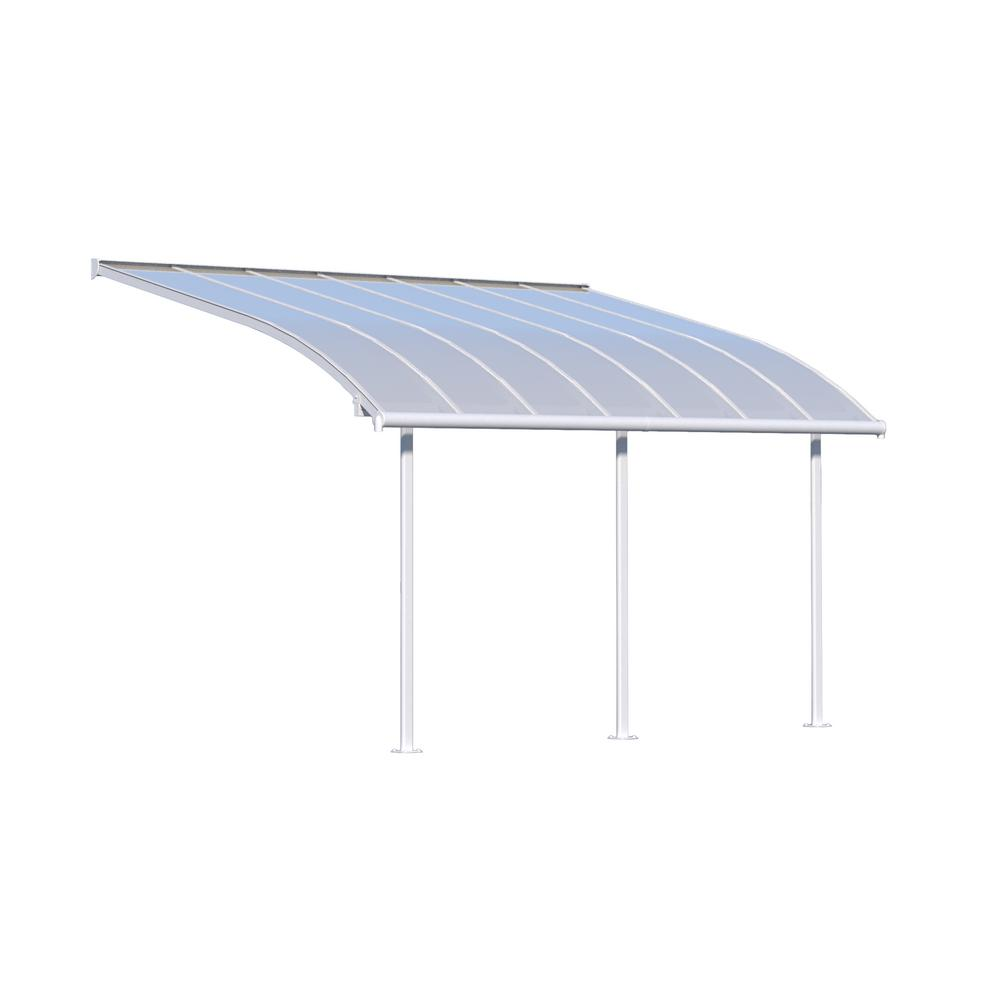 Palram Feria 10 Ft X 14 Ft White Patio Cover Awning