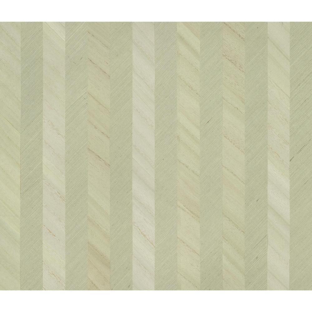 York Wallcoverings Ronald Redding Designs Stripes Resource Grass Wood Stripe Wallpaper