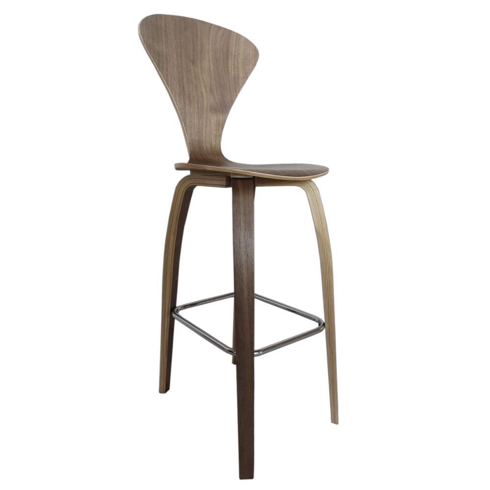 Wooden bar chair - Walnut Wooden Bar Chair