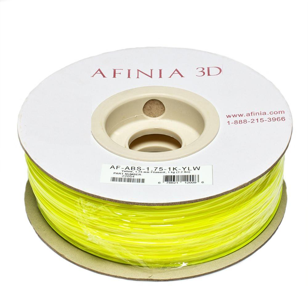 AFINIA Value-Line 1.75 mm Yellow ABS Plastic 3D Printer Filament (1kg)